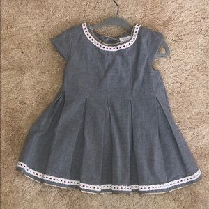 Tahari Gray School Girl Toddler Dress 2T